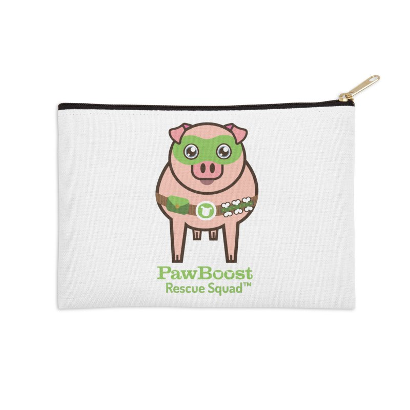 Presley (pig) Accessories Zip Pouch by PawBoost's Shop