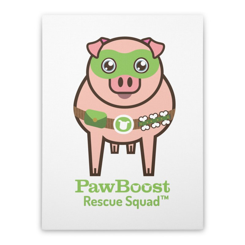 Presley (pig) Home Stretched Canvas by PawBoost's Shop