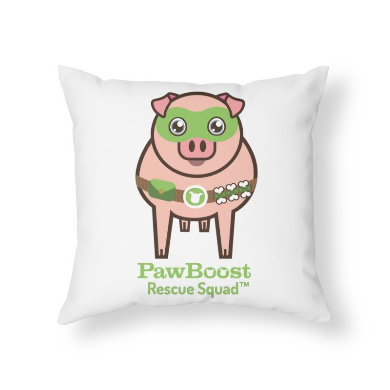 Presley (pig) Home Throw Pillow by PawBoost's Shop