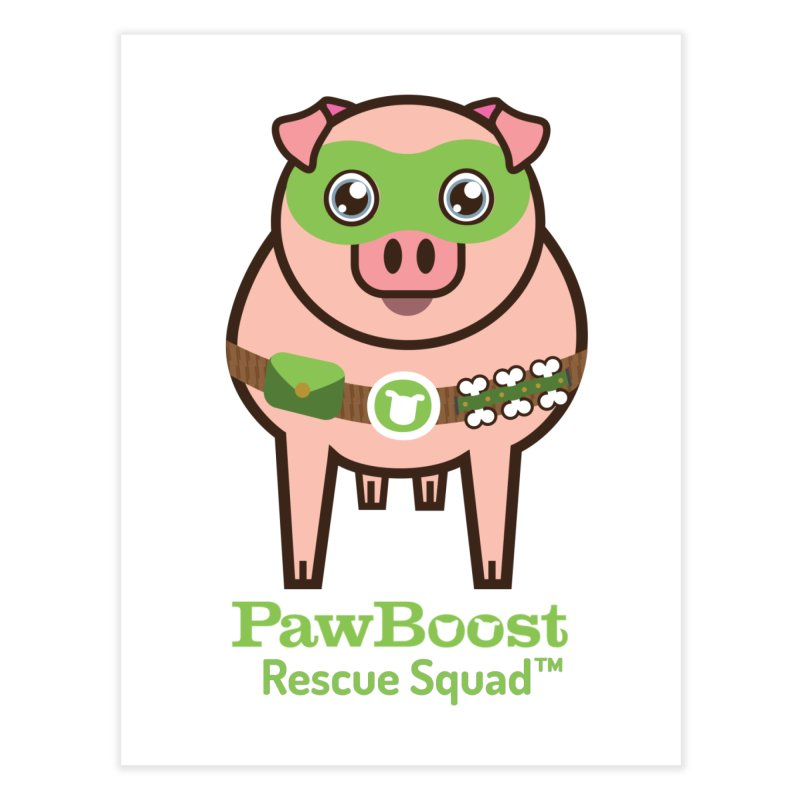 Presley (pig) Home Fine Art Print by PawBoost's Shop