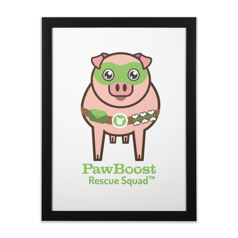 Presley (pig) Home Framed Fine Art Print by PawBoost's Shop