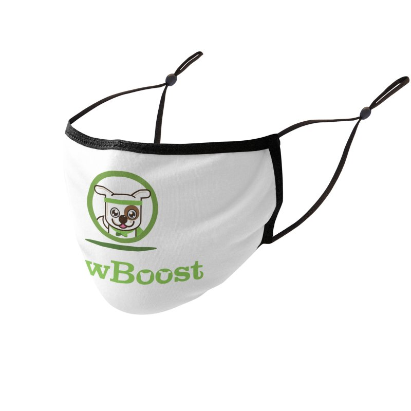 PawBoost Logo Accessories Face Mask by PawBoost's Shop