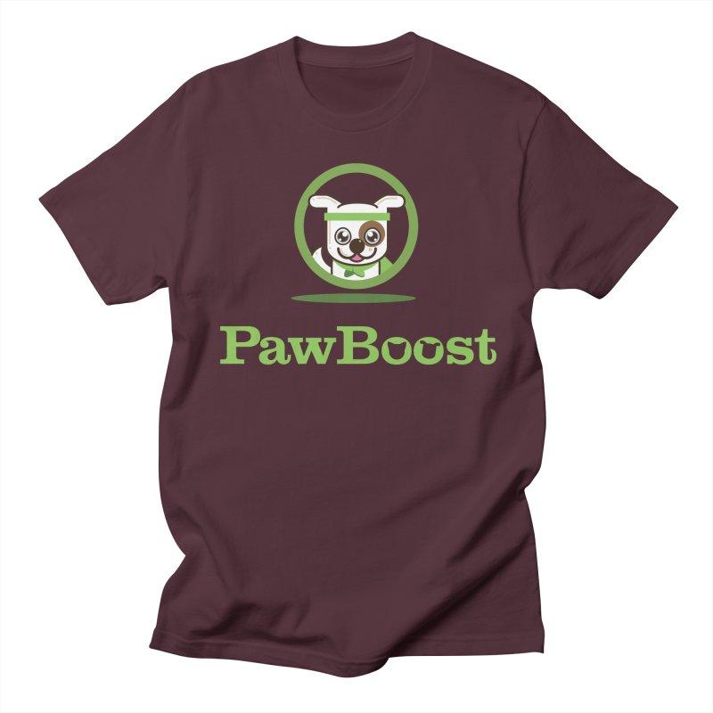 PawBoost Logo Men's T-Shirt by PawBoost's Shop