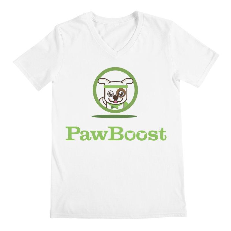 PawBoost Logo Men's V-Neck by PawBoost's Shop