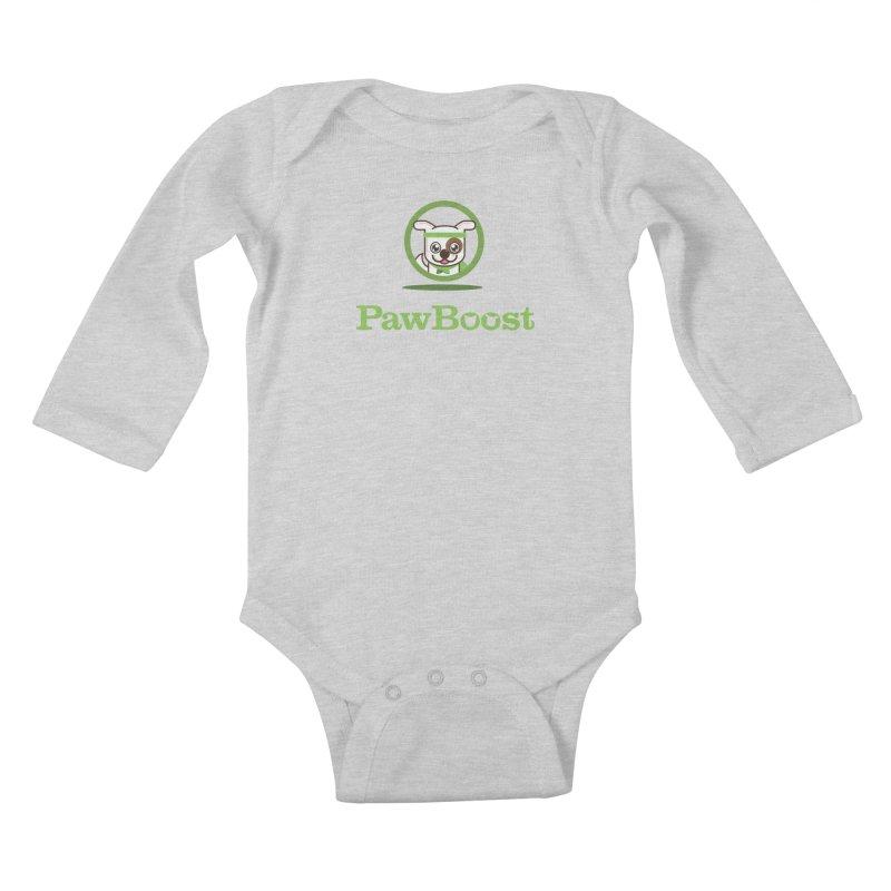 PawBoost Logo Kids Baby Longsleeve Bodysuit by PawBoost's Shop