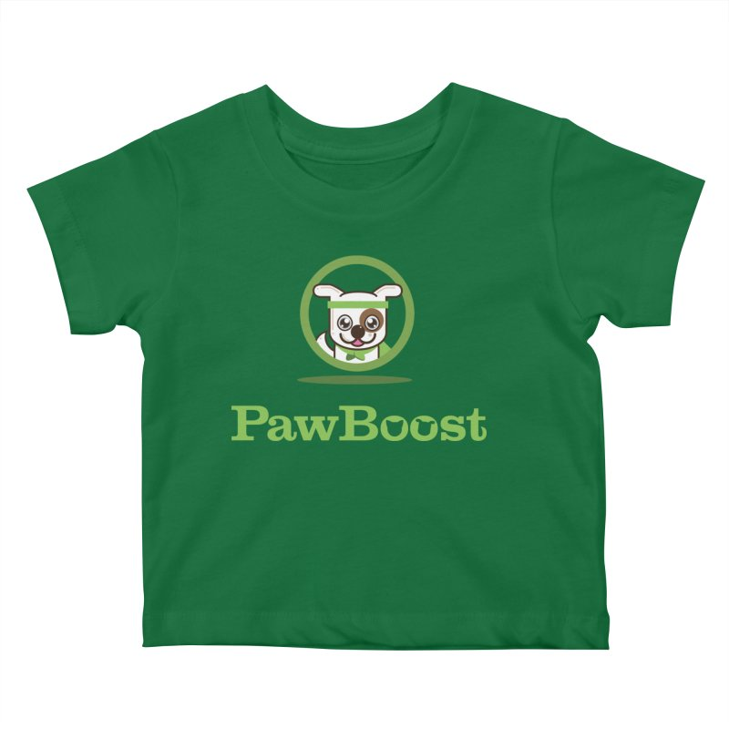 PawBoost Logo Kids Baby T-Shirt by PawBoost's Shop