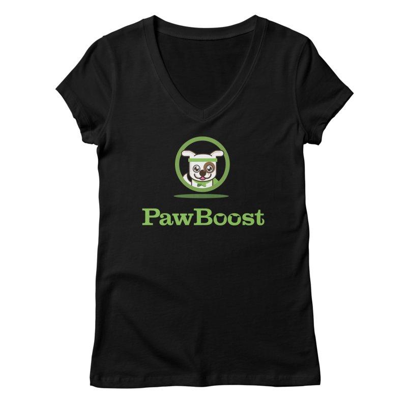 PawBoost Logo Women's V-Neck by PawBoost's Shop