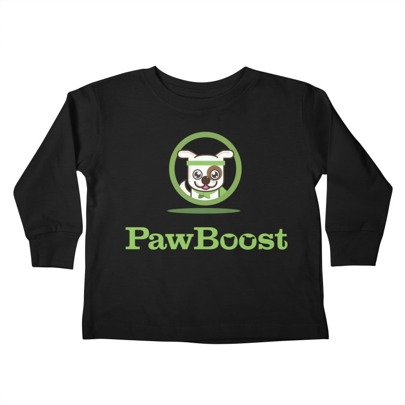 PawBoost Logo Kids Toddler Longsleeve T-Shirt by PawBoost's Shop