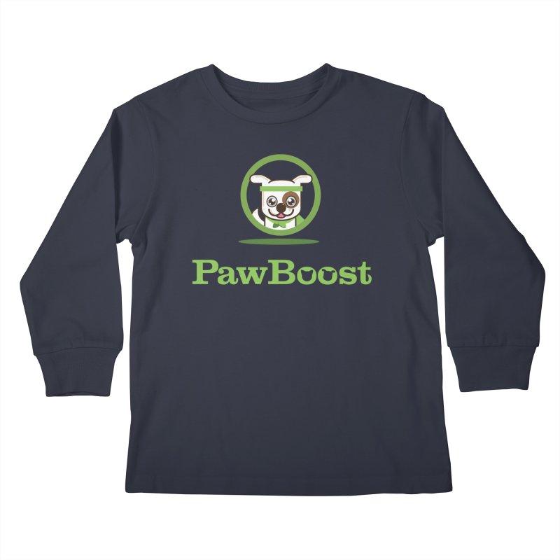 PawBoost Logo Kids Longsleeve T-Shirt by PawBoost's Shop