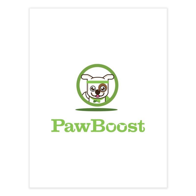 PawBoost Logo Home Fine Art Print by PawBoost's Shop
