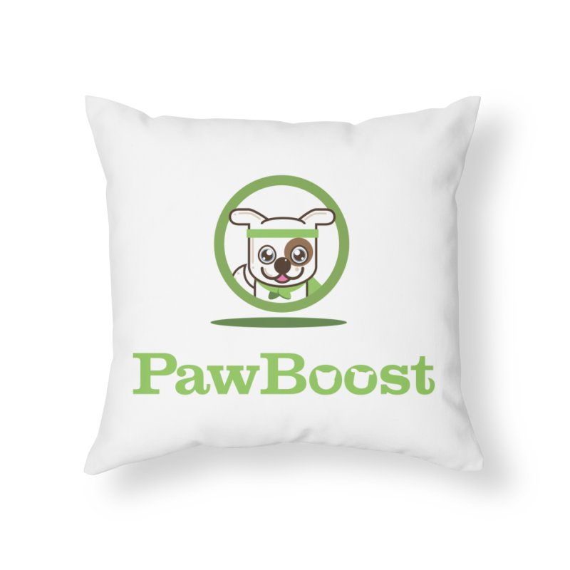 PawBoost Logo Home Throw Pillow by PawBoost's Shop