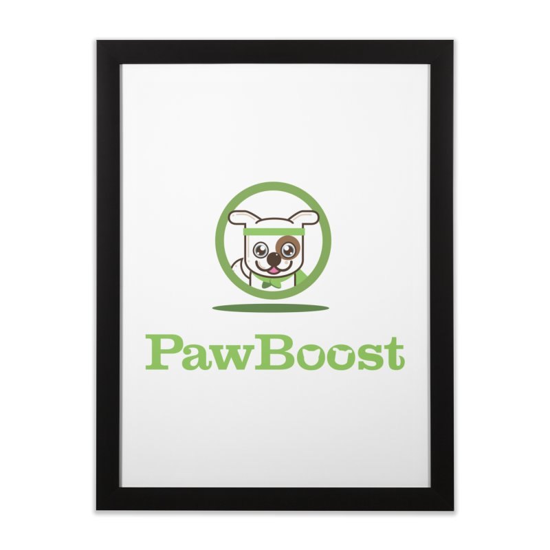 PawBoost Logo Home Framed Fine Art Print by PawBoost's Shop