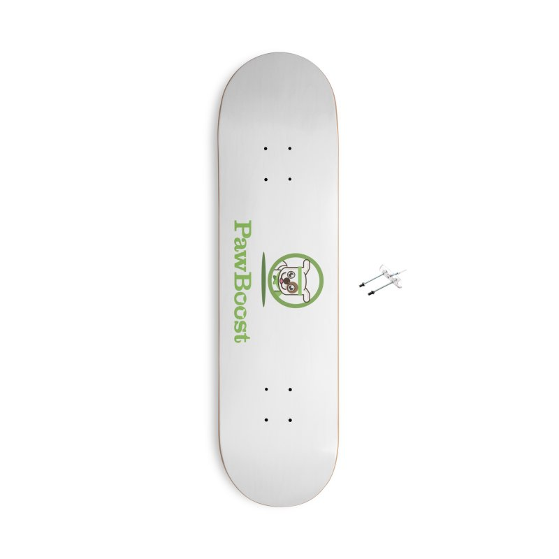 PawBoost Logo Accessories Skateboard by PawBoost's Shop