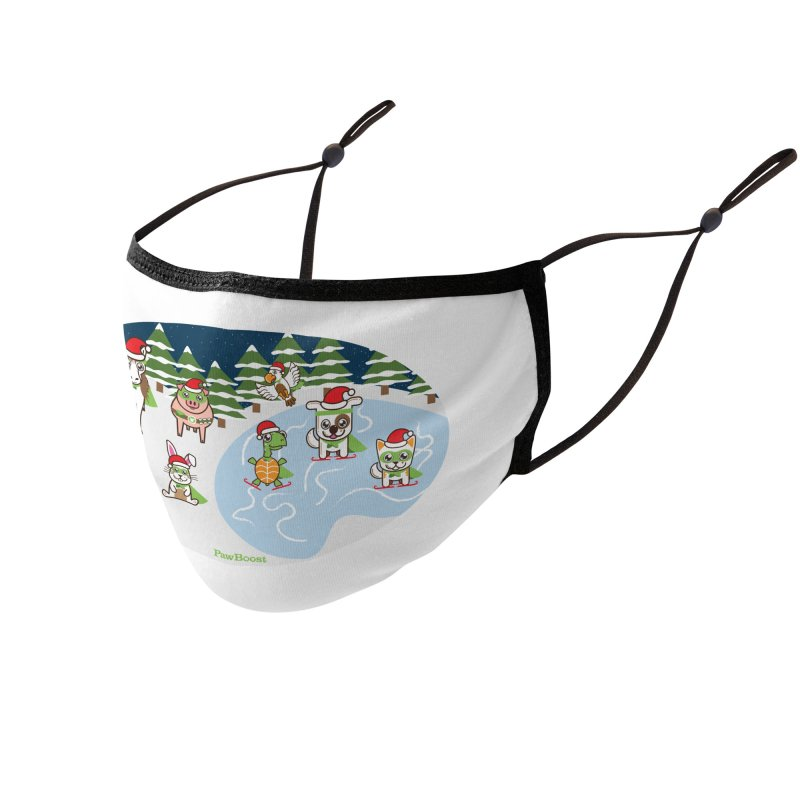 Holiday Frozen Pond Accessories Face Mask by PawBoost's Shop