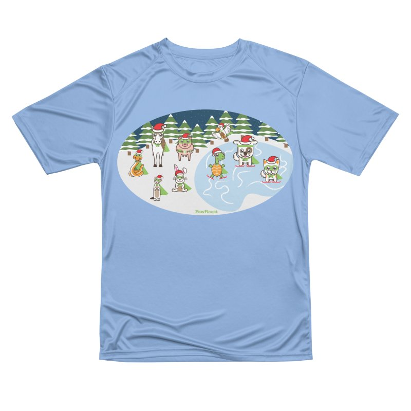 Holiday Frozen Pond Women's T-Shirt by PawBoost's Shop