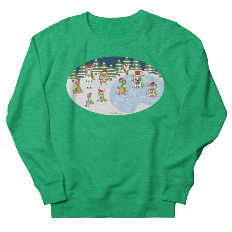 Holiday Frozen Pond Women's Sweatshirt by PawBoost's Shop