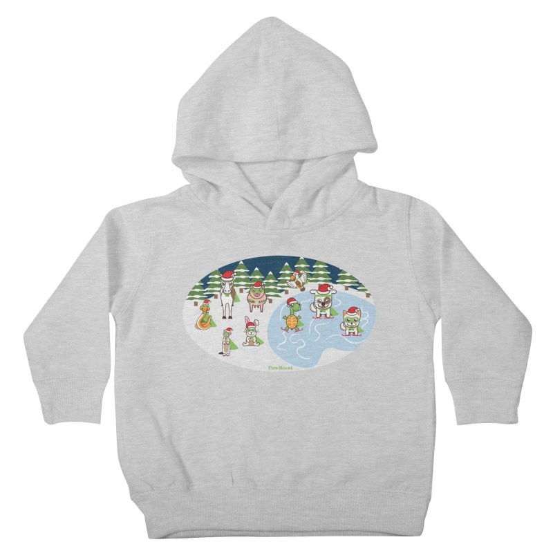 Holiday Frozen Pond Kids Toddler Pullover Hoody by PawBoost's Shop