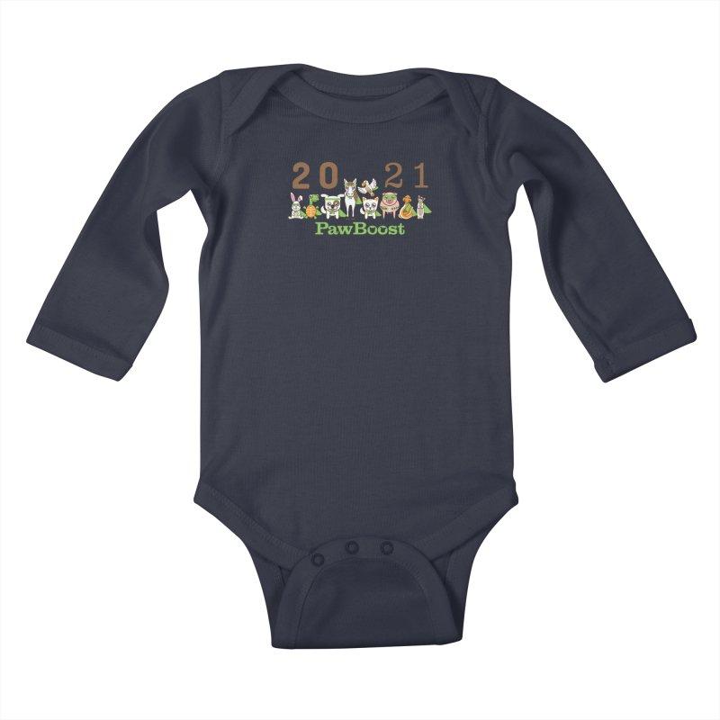 Hello 2021! Kids Baby Longsleeve Bodysuit by PawBoost's Shop