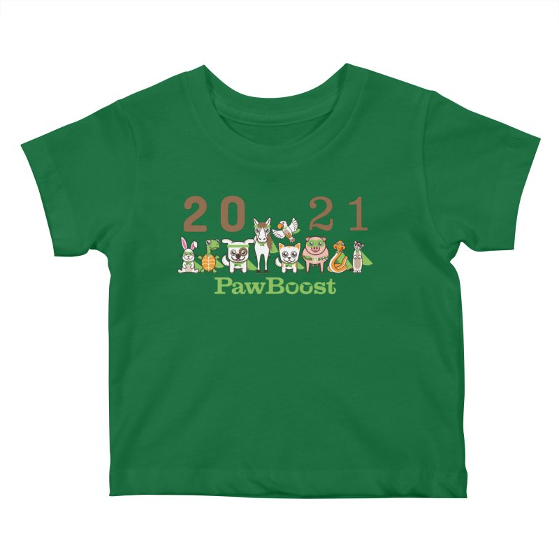 Hello 2021! Kids Baby T-Shirt by PawBoost's Shop