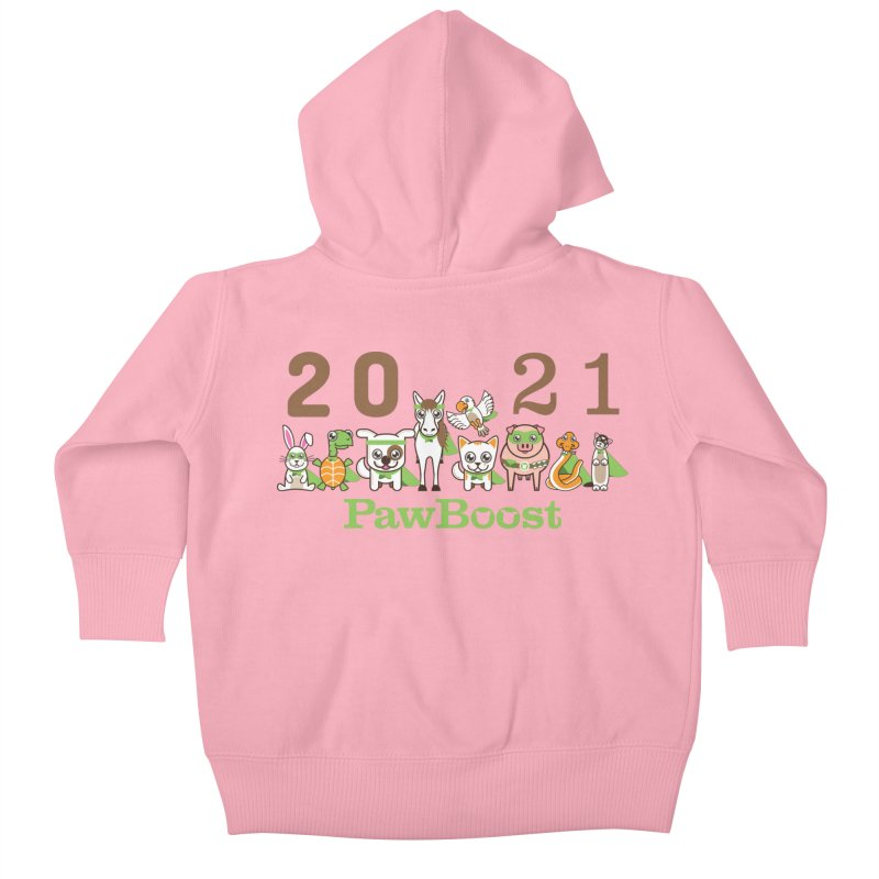 Hello 2021! Kids Baby Zip-Up Hoody by PawBoost's Shop