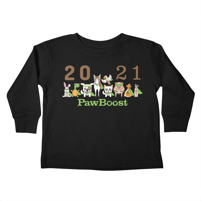 Hello 2021! Kids Toddler Longsleeve T-Shirt by PawBoost's Shop