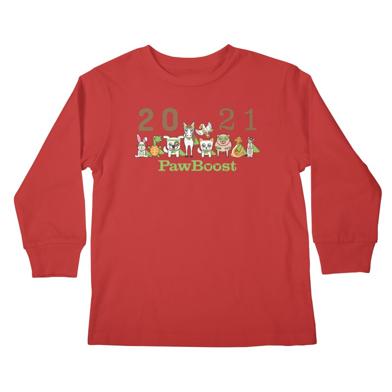 Hello 2021! Kids Longsleeve T-Shirt by PawBoost's Shop