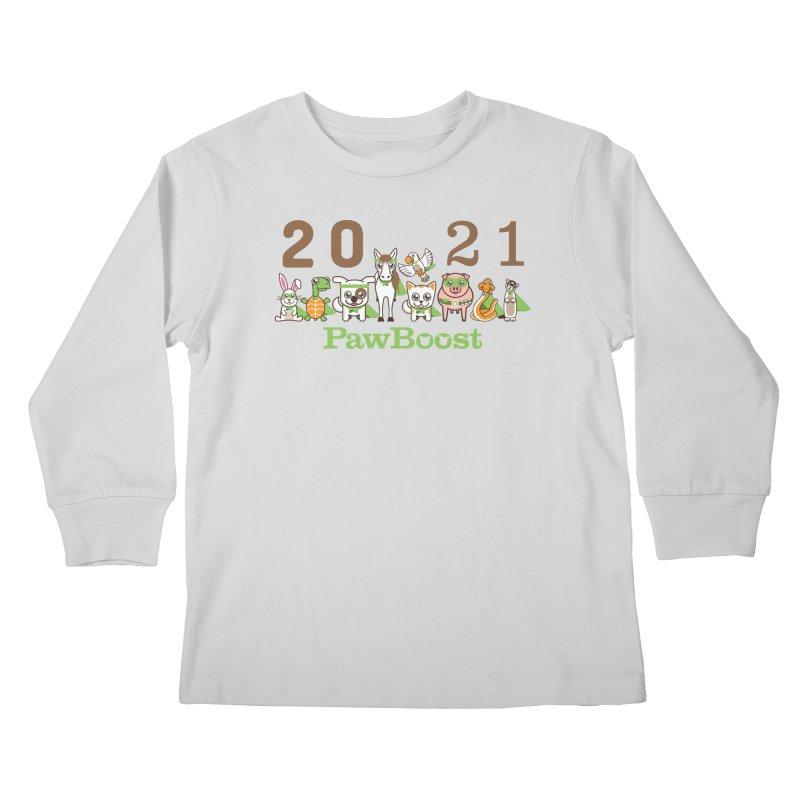 Hello 2021! Kids Longsleeve T-Shirt by PawBoost's Shop