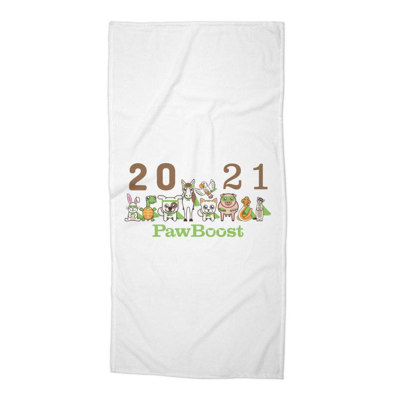 Hello 2021! Accessories Beach Towel by PawBoost's Shop