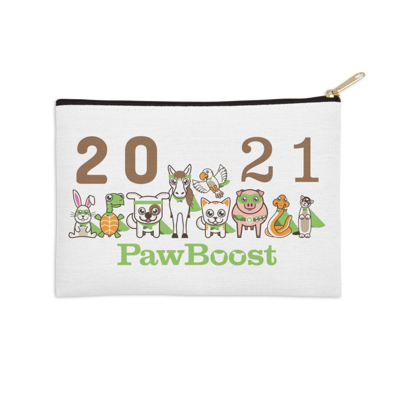 Hello 2021! Accessories Zip Pouch by PawBoost's Shop