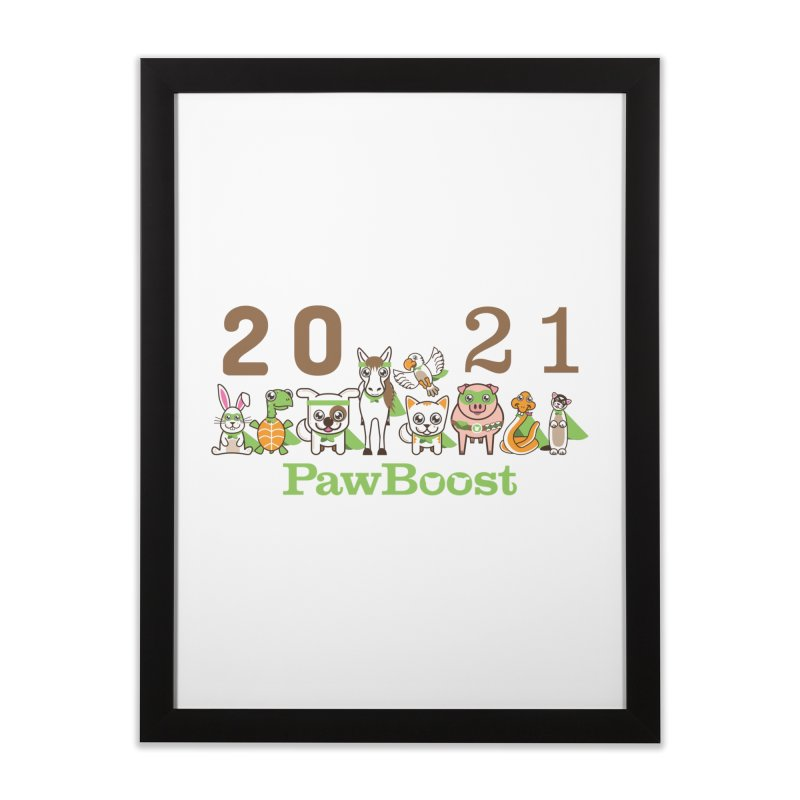 Hello 2021! Home Framed Fine Art Print by PawBoost's Shop