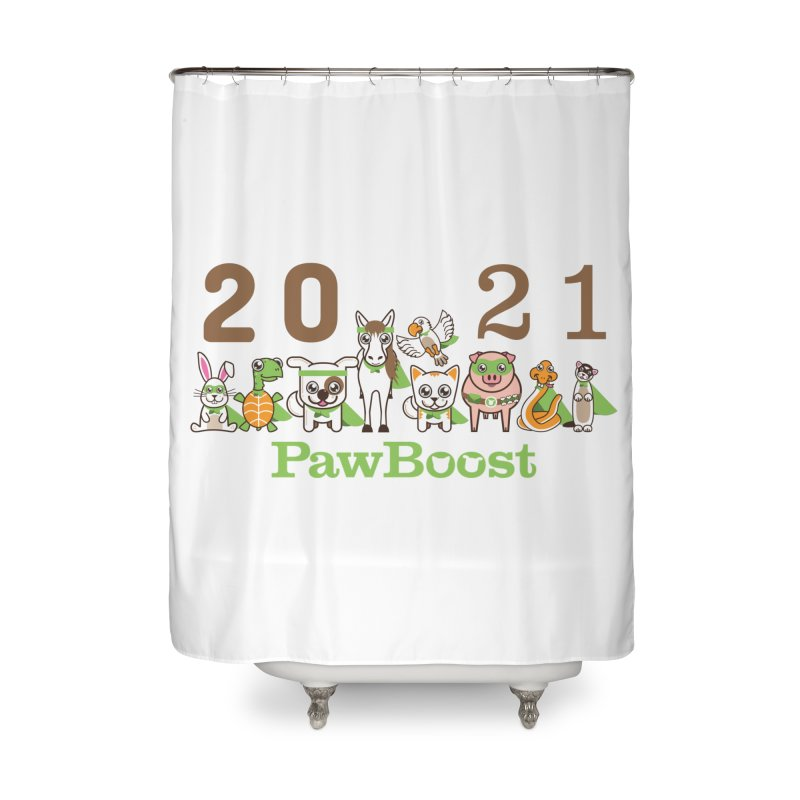 Hello 2021! Home Shower Curtain by PawBoost's Shop