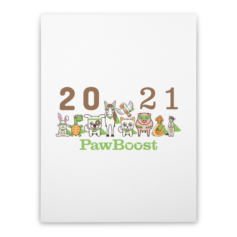 Hello 2021! Home Stretched Canvas by PawBoost's Shop