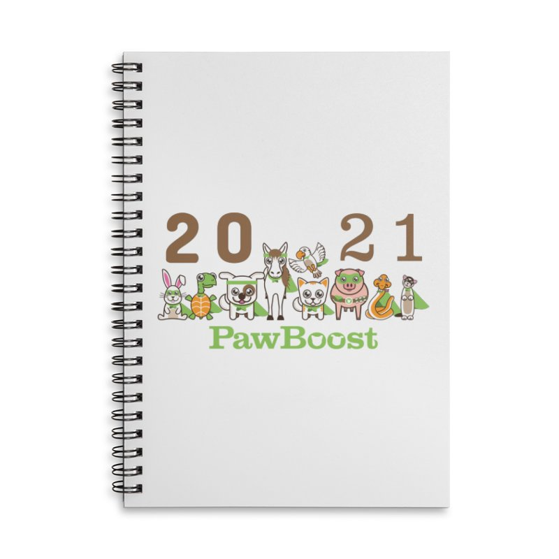 Hello 2021! Accessories Notebook by PawBoost's Shop
