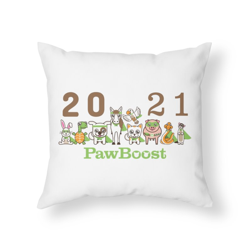 Hello 2021! Home Throw Pillow by PawBoost's Shop