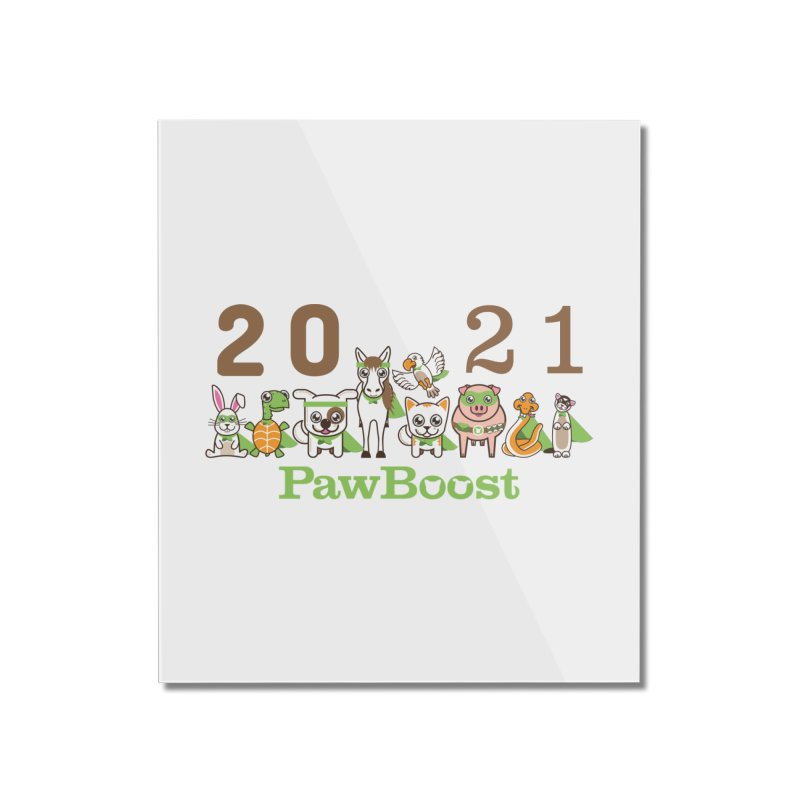 Hello 2021! Home Mounted Acrylic Print by PawBoost's Shop