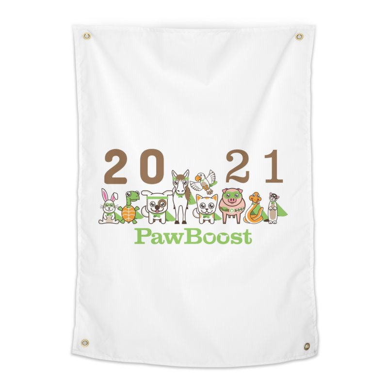 Hello 2021! Home Tapestry by PawBoost's Shop