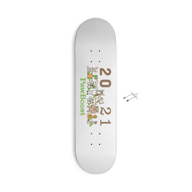 Hello 2021! Accessories Skateboard by PawBoost's Shop