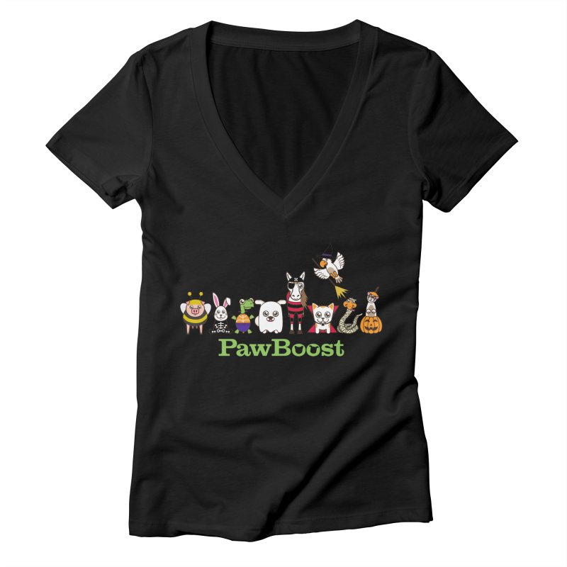 Rescue Squad (Halloween) Women's V-Neck by PawBoost's Shop