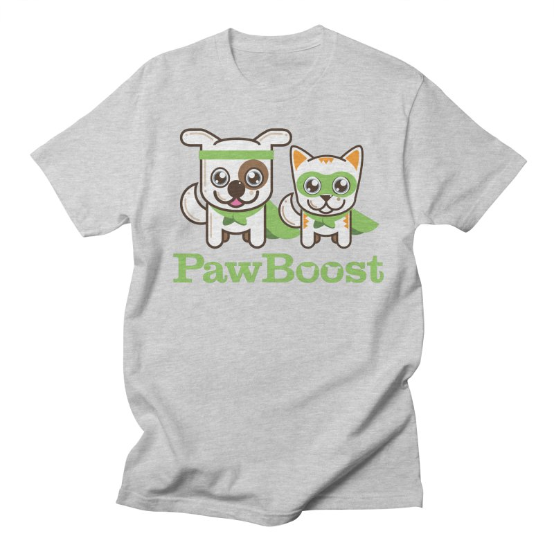 Toby & Moby in Men's Regular T-Shirt Heather Grey by PawBoost's Shop