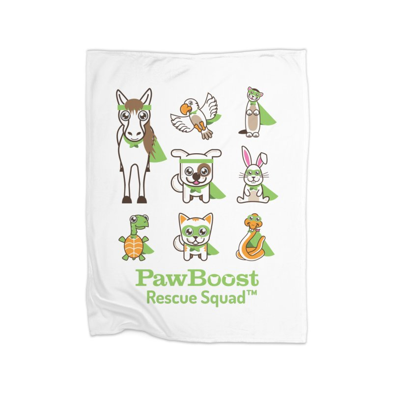 Rescue Squad (grid) Home Fleece Blanket Blanket by PawBoost's Shop