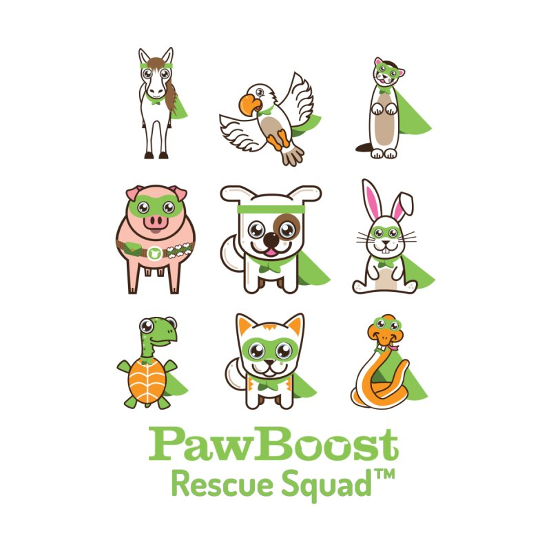Rescue Squad (grid) Men's T-Shirt by PawBoost's Shop