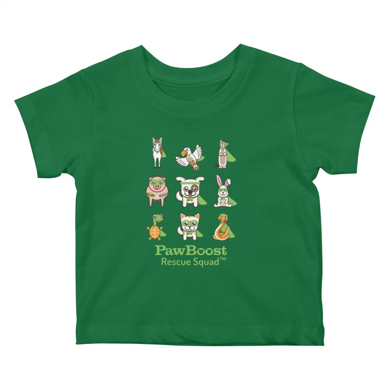 Rescue Squad (grid) Kids Baby T-Shirt by PawBoost's Shop