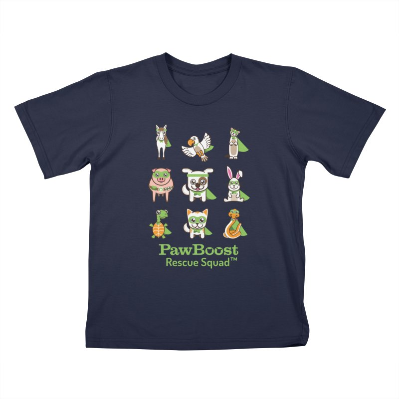 Rescue Squad (grid) Kids T-Shirt by PawBoost's Shop