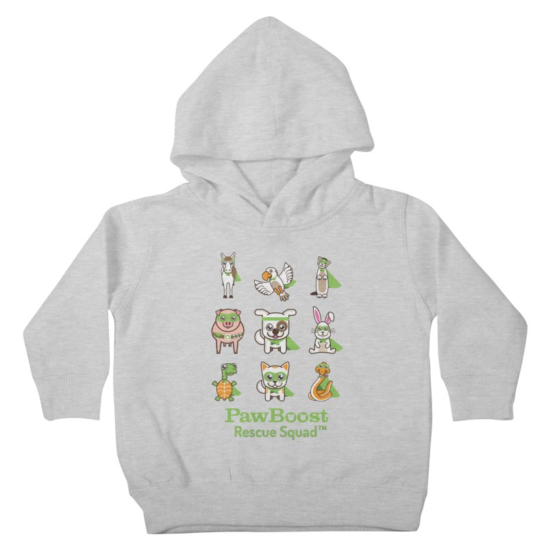 Rescue Squad (grid) Kids Toddler Pullover Hoody by PawBoost's Shop