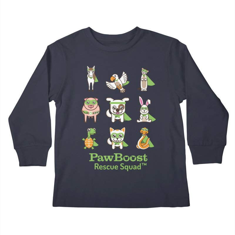 Rescue Squad (grid) Kids Longsleeve T-Shirt by PawBoost's Shop