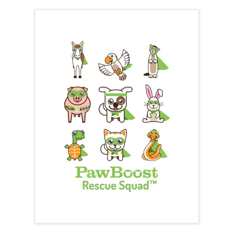 Rescue Squad (grid) Home Fine Art Print by PawBoost's Shop