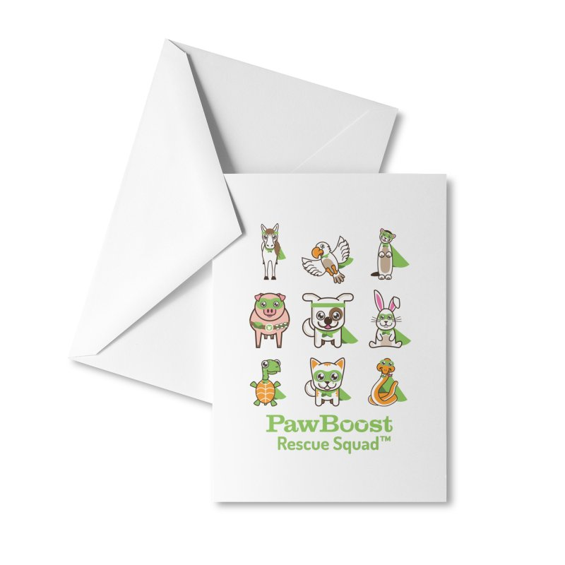Rescue Squad (grid) Accessories Greeting Card by PawBoost's Shop