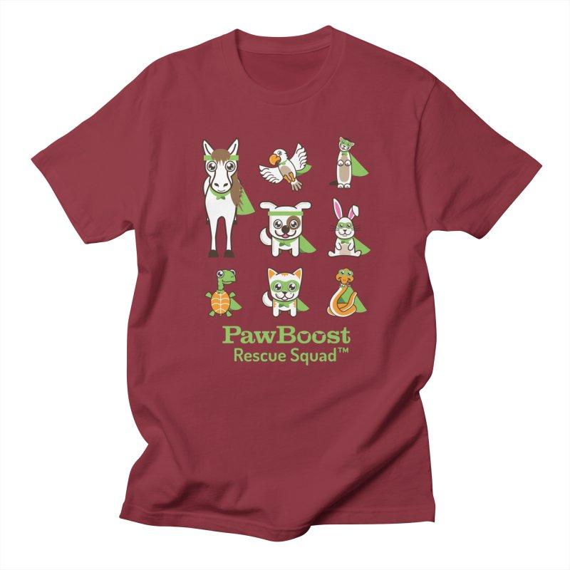 Rescue Squad (grid) Men's T-Shirt by PawBoost's Shop