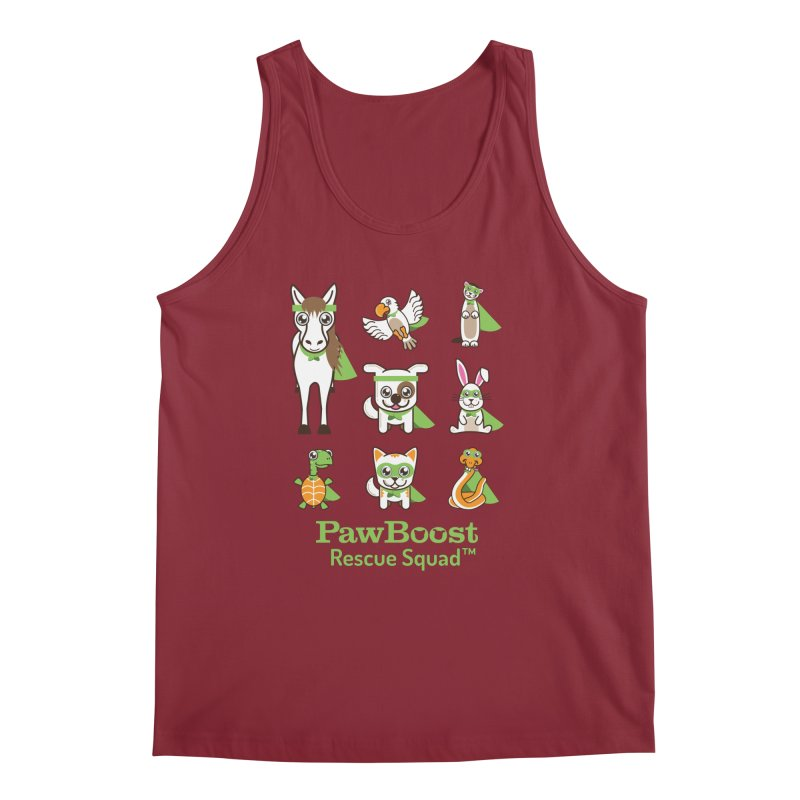 Rescue Squad (grid) Men's Tank by PawBoost's Shop