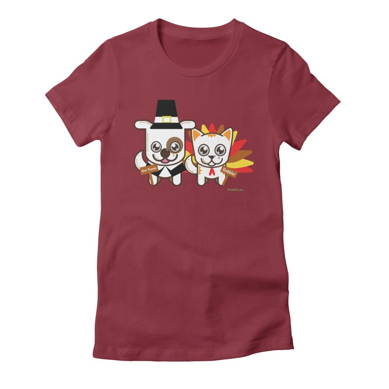 Toby & Moby (turkey day) Women's T-Shirt by PawBoost's Shop